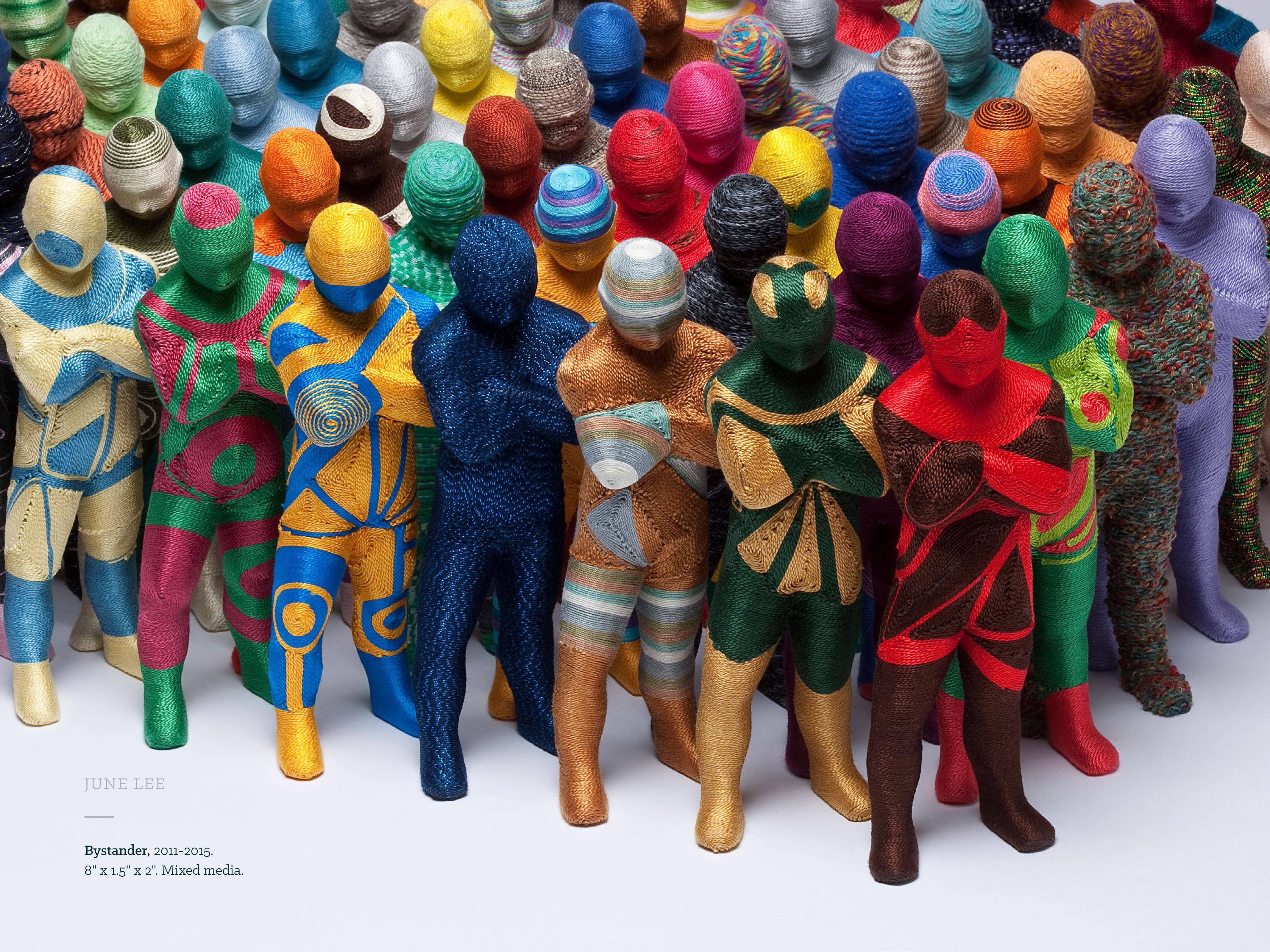 3D mixed media textile - June Lee