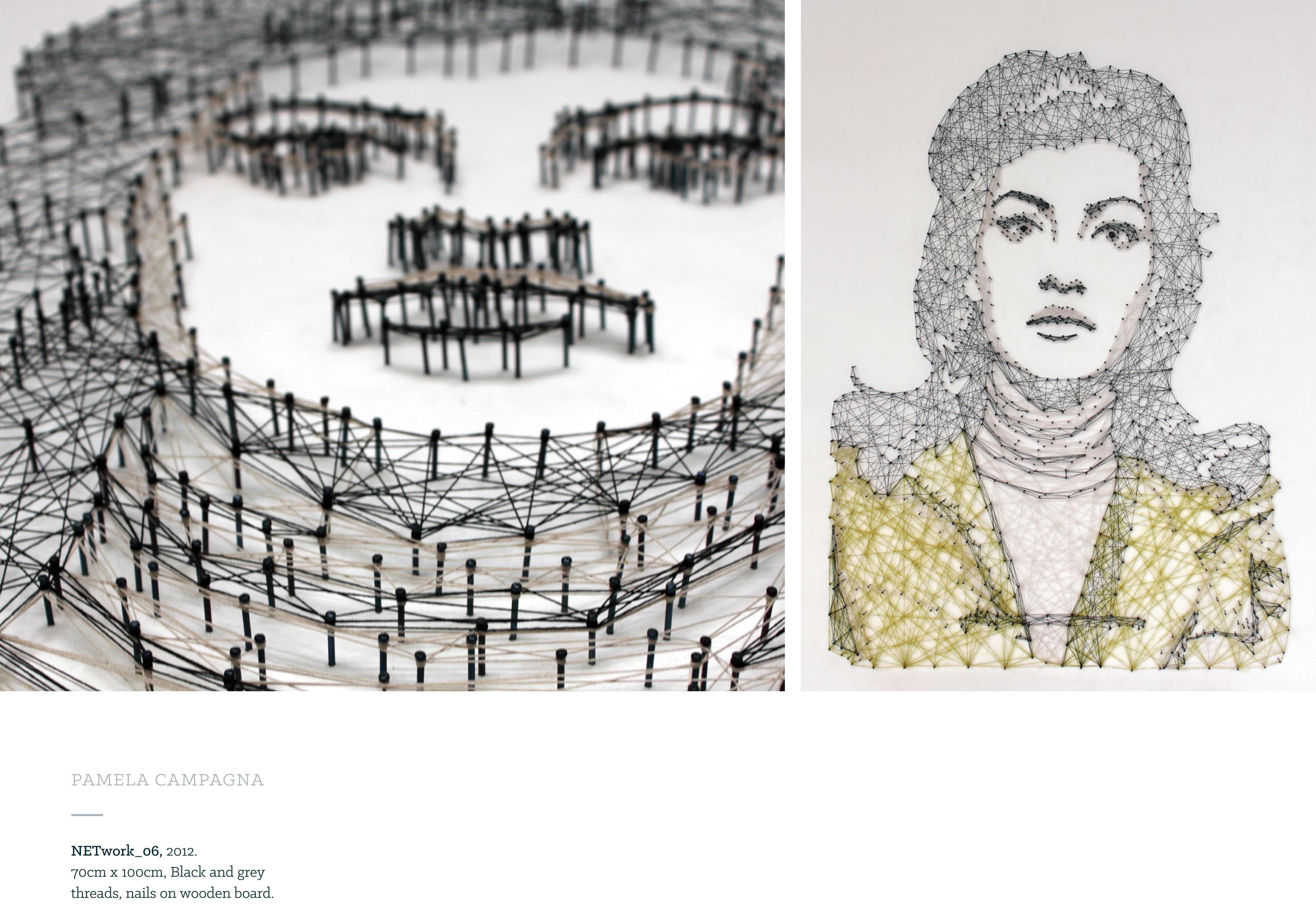 3D mixed media textile art - Pamela Campagna