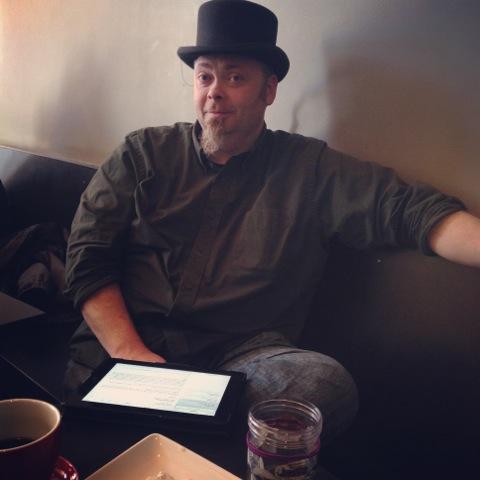 Adam Moe in Moe Sew Co Millinery top hat