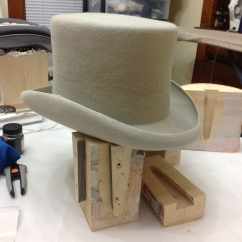 Top hat from La Mode West, Winchester Hats and Moe Sew Co Millinery