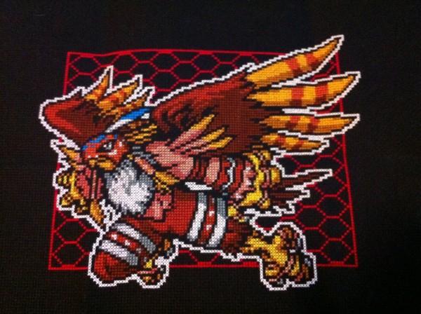 Sheepishwolfie - Garudamon - Cross Stitch