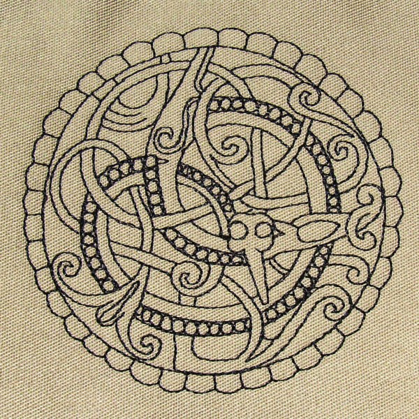 Pitney Brooch Anglo Saxon Embroidery Design by Erich Campbell