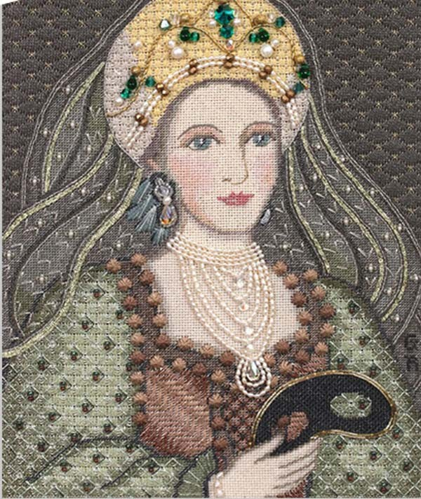 The Young Catherine needlepoint by Gay Ann Rogers