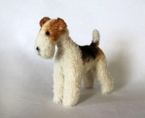 Wire Fox Terrier by Emma Hall Art (Soft Sculpture)