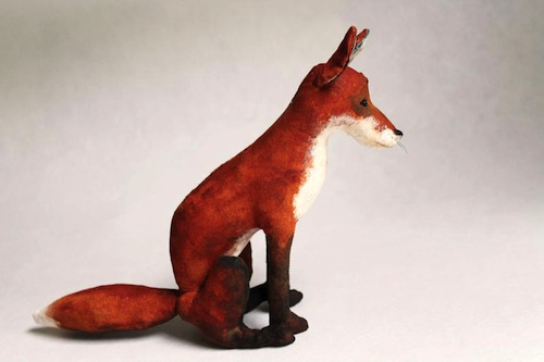 Fox by Emma Hall Art (Soft Sculpture)