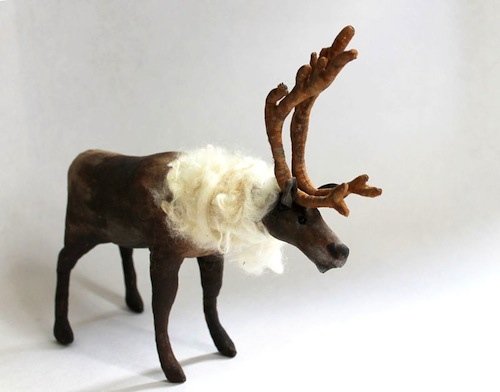 Reindeer by Emma Hall Art (Soft Sculpture)