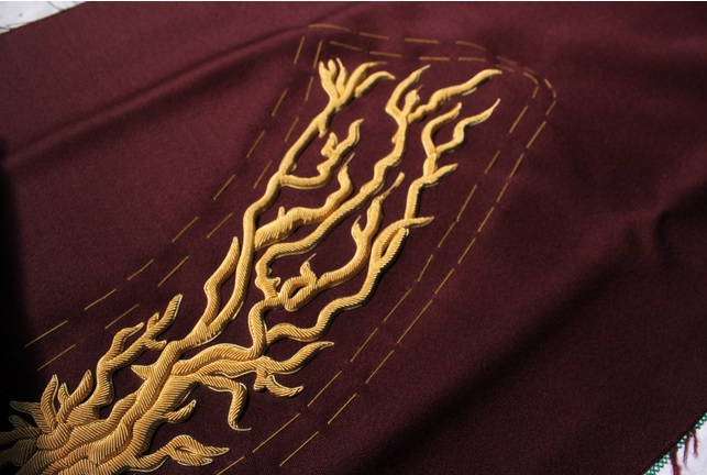 Hawthorne & Heaney on Application of Traditional Goldwork  London Hand Embroidery