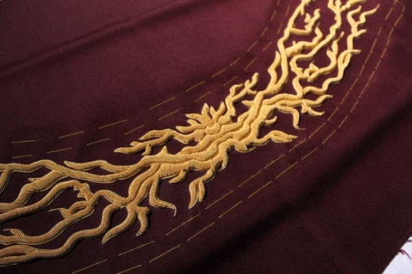 Goldwork Embroidery by Hawthorne & Heaney for Joshua Kane