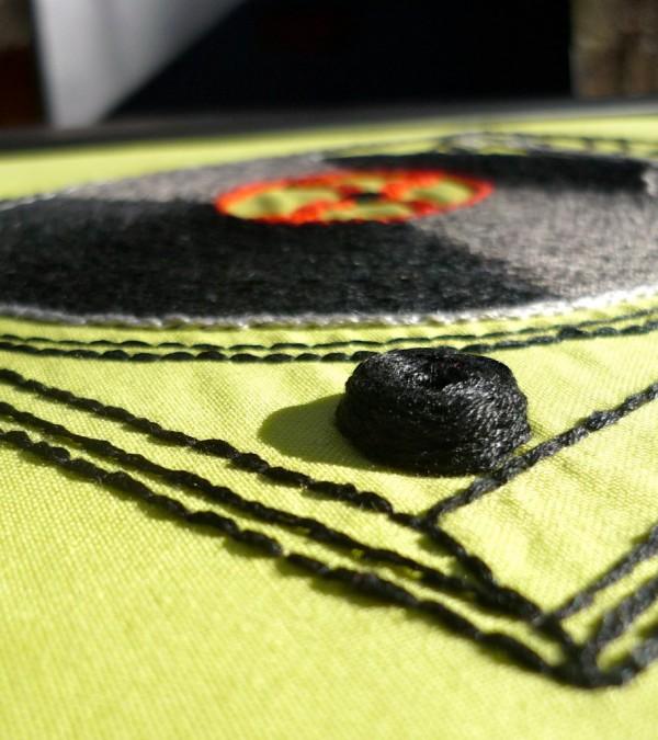 Olisa Corcoran - Turntable (2011) - Hand Embroidery