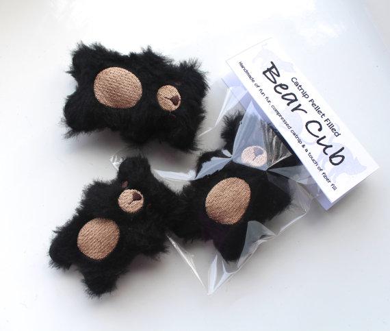 bear cub cat toys by Misohandmade