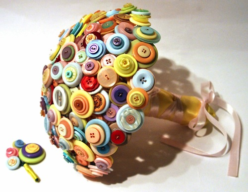 Pastel Button Bouquet by Charlotte Laurie Designs