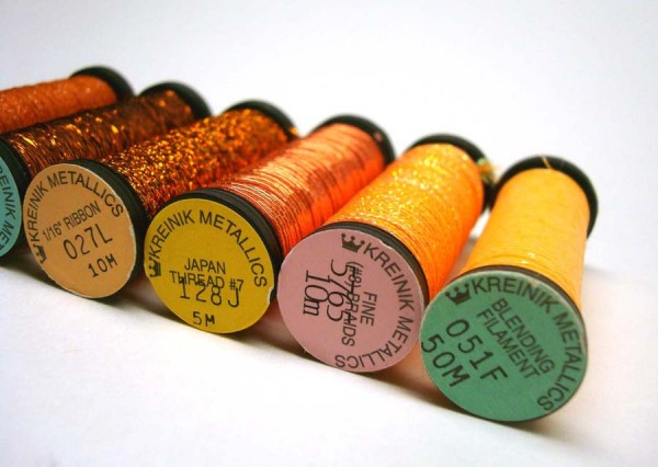 Varieties of metallic threads