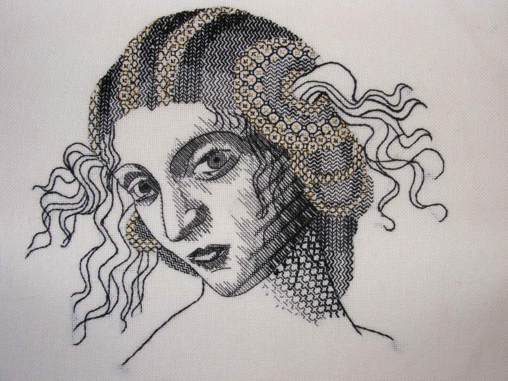 Helen McCook's Jacobean Blackwork Portrait