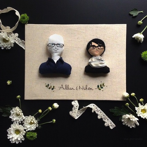 Custom Portraits by Ria Paramita (Soft Sculpture)
