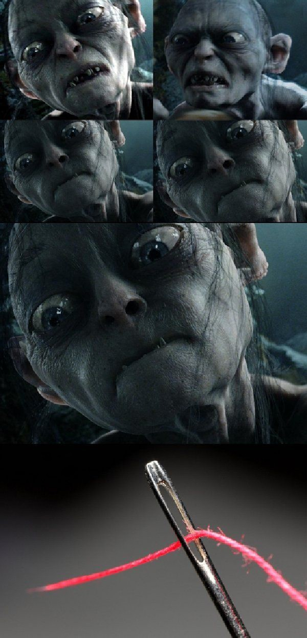 Gollum Threading A Needle