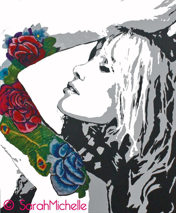 SarahMichelle - Embroidered Tattoo #5