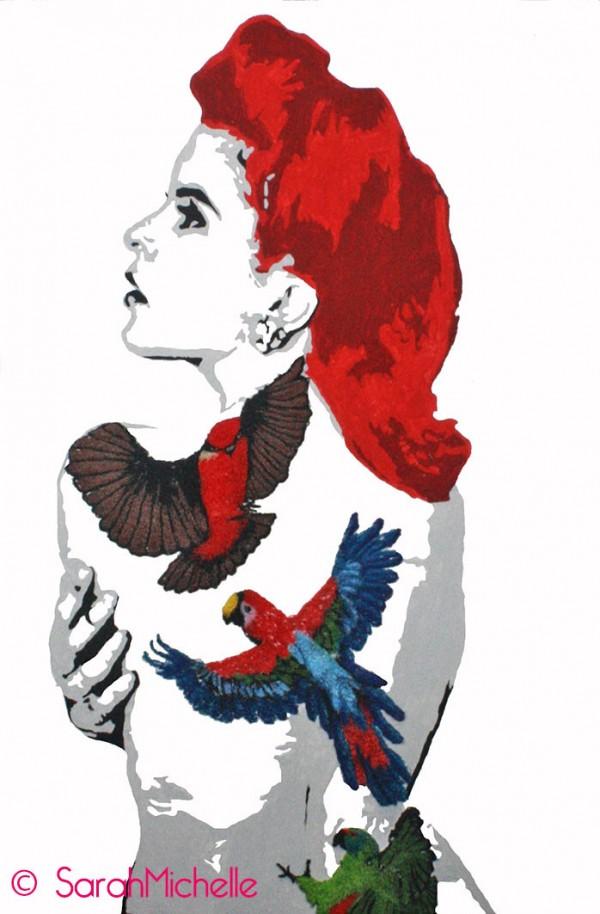 SarahMichelle - Embroidered Tattoo #7