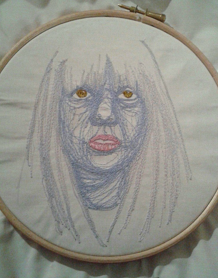 t-t-l-sis12's Machine Embroidered Self Portrait