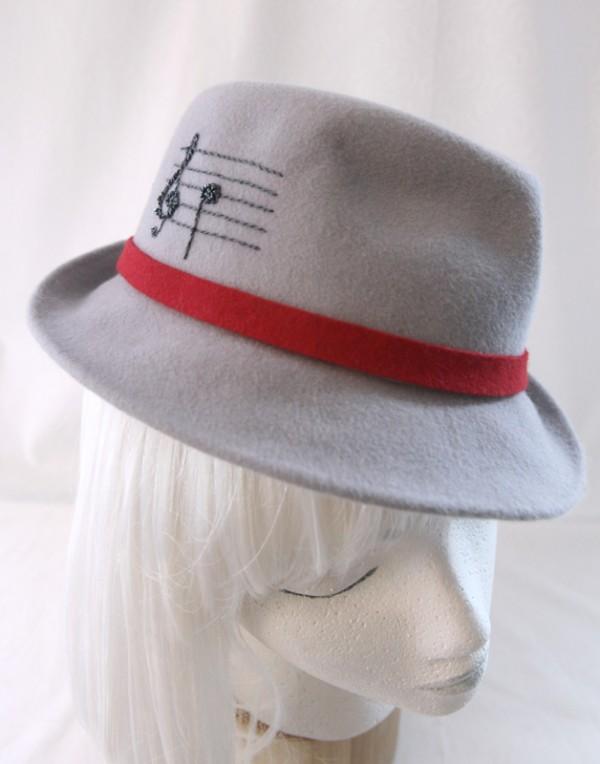 Gray Music Fedora