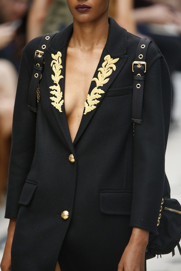 Hand & Lock Goldwork Jacket at Burberry Fashion Show
