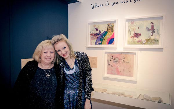 """Mum and I on opening night of Customs House Exhibition 'In Dreams' last year."" - Ailish Henderson"