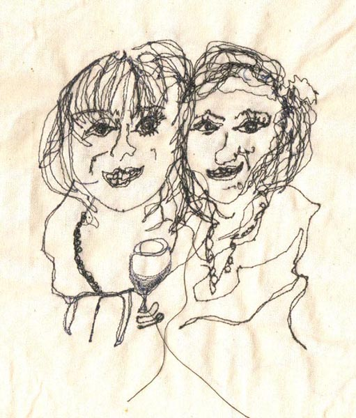 Free machine embroidery, Mum and me, by Ailish Henderson