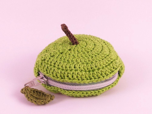 Fruit Slice Coin Purse by Teapot Magpie (Crochet)