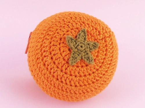 Fruit Protector Pouch (Orange) by Teapot Magpie (Crochet)