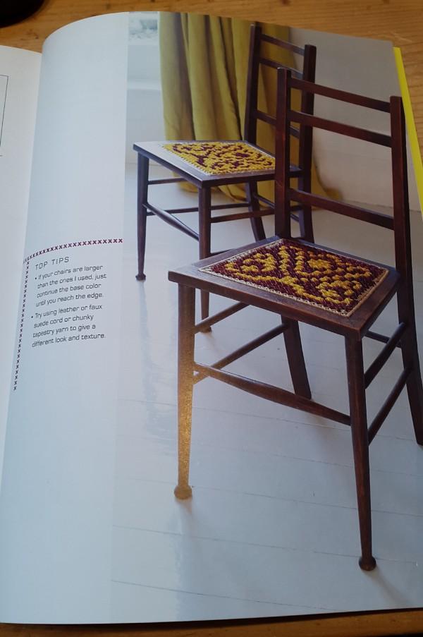 Modern Cross Stitch by Hannah Sturrock - Chairs