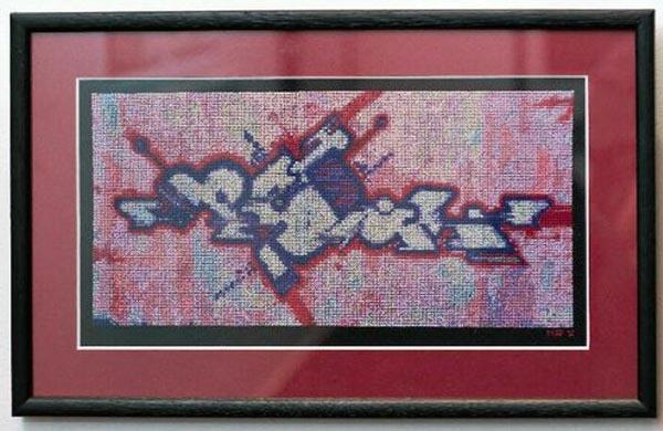 Panika: Original graffiti cross stitch by Mr X Stitch