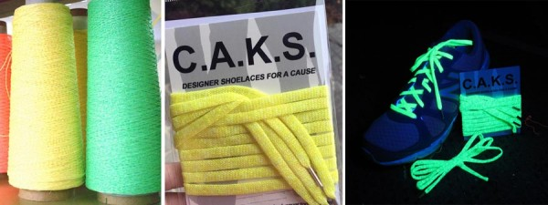 The same Kreinik glow-in-the-dark threads you love to use in cross stitch and embroidery are used to make the new C.A.K.S. Laces thanks to some new technology and machinery at the West Virginia thread factory.