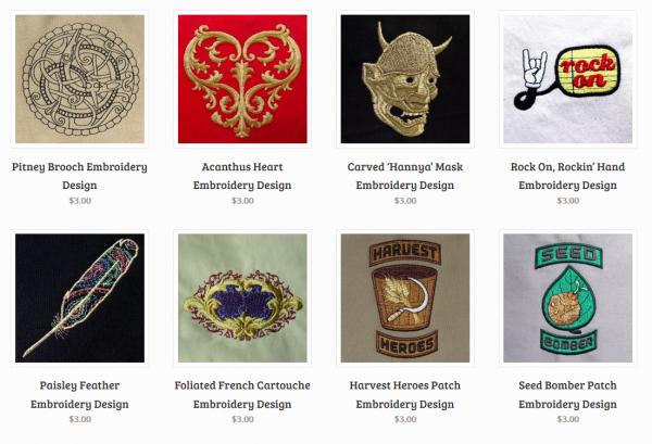 Designs from TheOnlyStitch.com