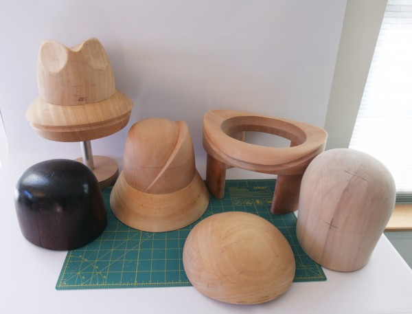 wood hat blocks