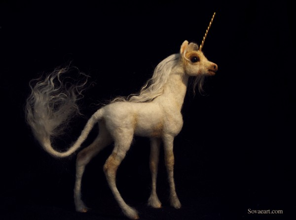 Unicorn felt example by Sovaeart   - favourite felt unicorns