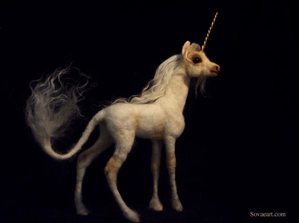 Unicorn felt example by Sovaeart   - favourite felt unicorns