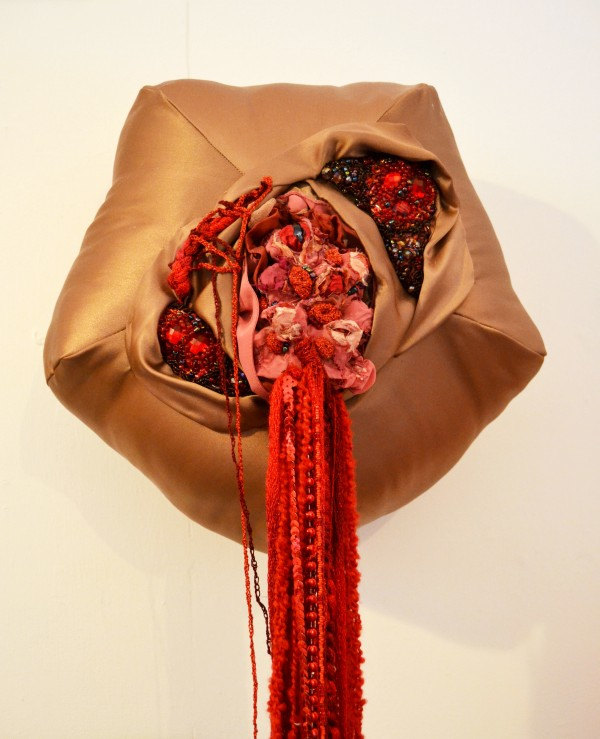 Holly Rozier - Bleeding Scabby Blob, 2013, Textile Mixed Media, 40x40x150cm