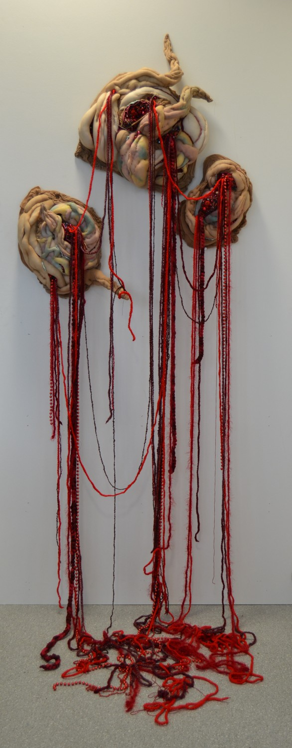 Holly Rozier - Separation, 2015, Textiles Mixed Media, 120cm x 80cm x30cm