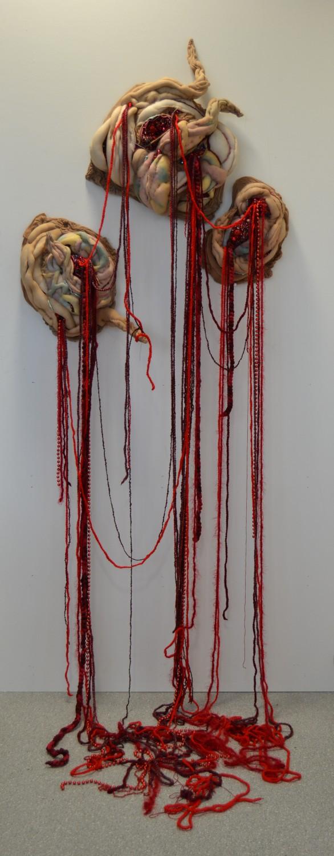 Holly Rozier - Separation, 2015, Textiles Mixed Media, 120cm x 80cm x30cm