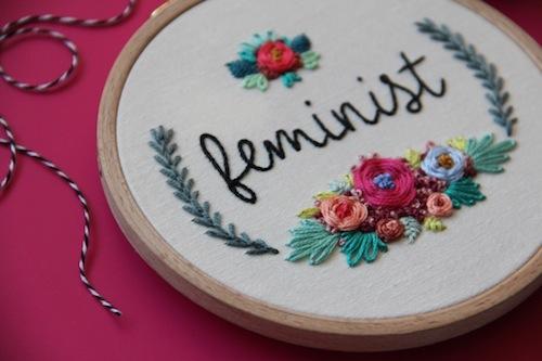 Femmebroidery - Feminist Hoop Art