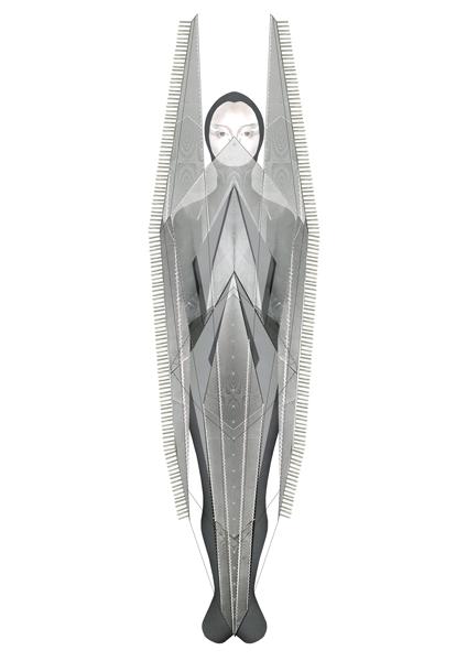 The Woman illustration, Emily Rose Spreadborough