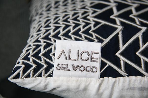 Bespoke cushions by Alice Selwood