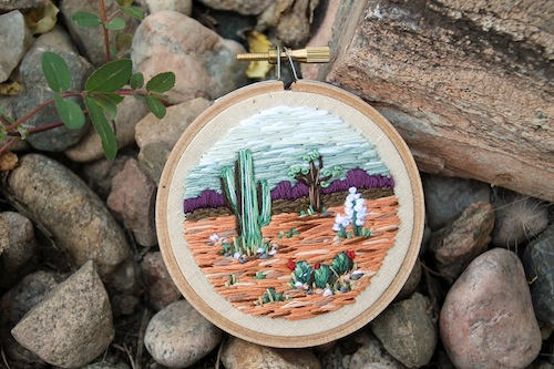 IttyBittyBunnies - Cactus Landscape Embroidery