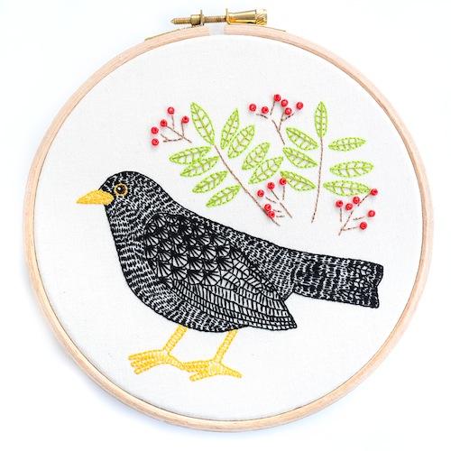 Chloe Redfern Artist - Blackbird Hoop