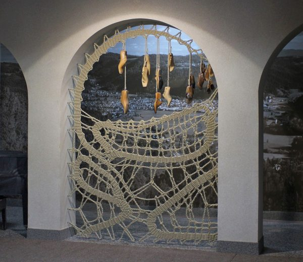 Manca Ahlin - Another Kind of Shoe Lace - Lacework Installation