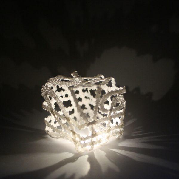 Manca Ahlin - Lace Cube - Lacework Installation