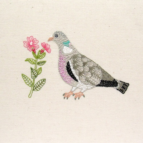 Chloe Redfern Artist - Pigeon Embroidery