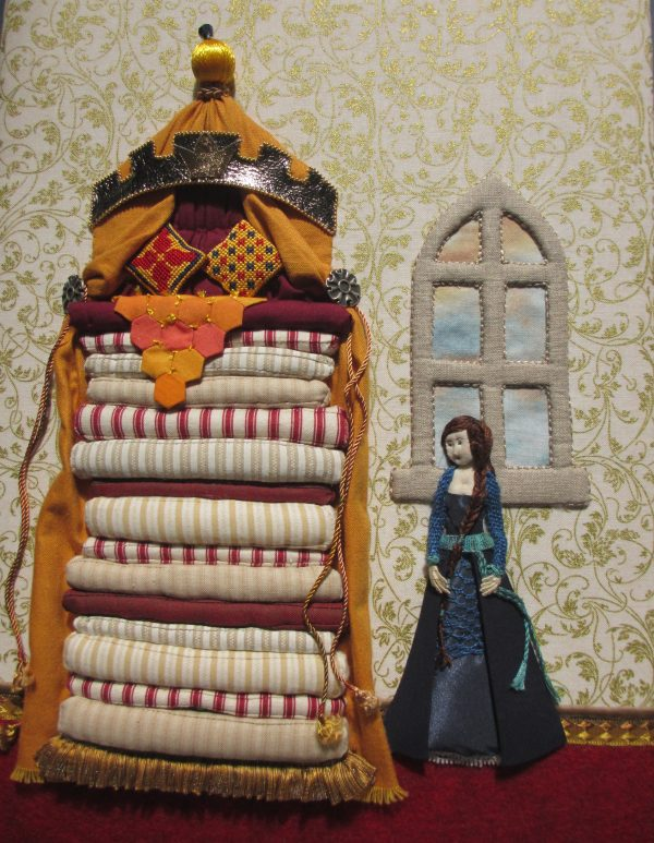 Princess & the Pea by RSN Future Tutor Graduate, Deborah Wilding, Stumpwork