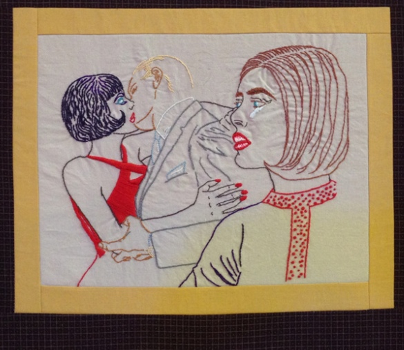 Hand embroidery by Rebecca Levi.