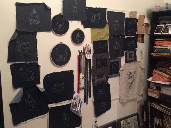 Levi's Brooklyn studio, by Olisa Corcoran.