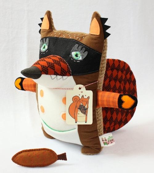 Stitched Creatures - Boudewijn the Squirrel